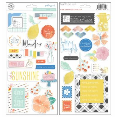 Pinkfresh Studio - Simple & Sweet Chipboard Stickers