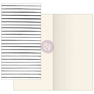 Prima Traveler's Journal Notebook Refill Ivory Paper - Modern Lines