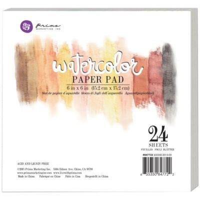 "Prima Watercolor Paper Pad 6""X6"" 24/Pkg"
