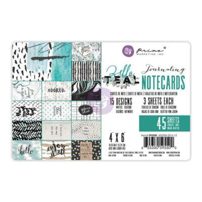 Prima Marketing - Zella Teal 4x6 Journaling Cards