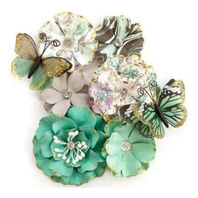 Prima Marketing - Zella Teal Flower - Butterfly Kisses