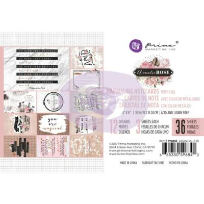 Prima Marketing - Amelia Rose 4x6 Journaling Cards Pad