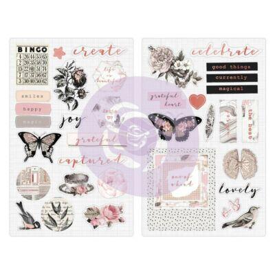 Prima Marketing - Amelia Rose Chipboard Stickers