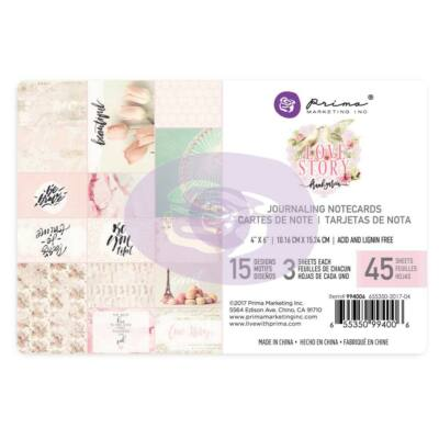 Prima Marketing - Love Story 4x6 Journaling Cards