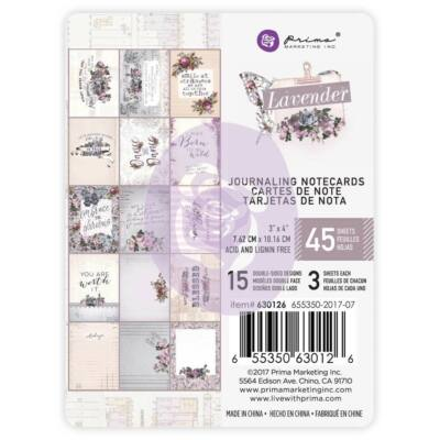Prima Marketing - Lavender 3x4 Journaling Cards Pad
