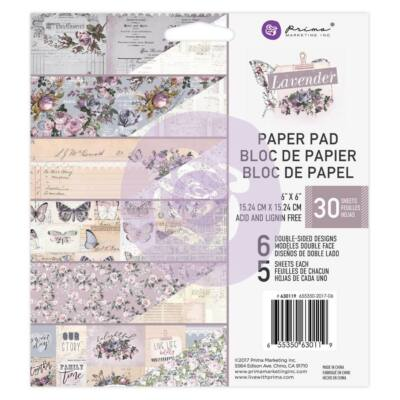 Prima Marketing - Lavender 6x6 Paper Pad