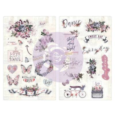 Prima Marketing - Lavender Chipboard Stickers