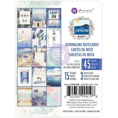 Prima Marketing - Santorini 3x4 Card Pad