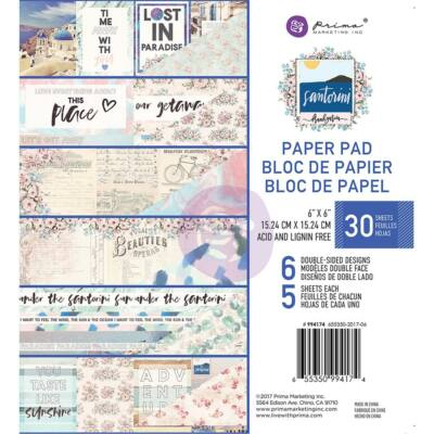 Prima Marketing - Santorini 6x6 Paper Pad