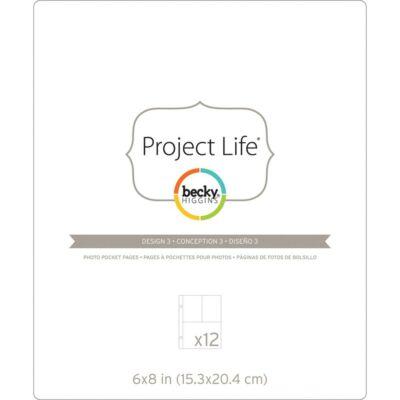 Becky Higgins - Project Life - 6 x 8 Pocket Pages - Design 3