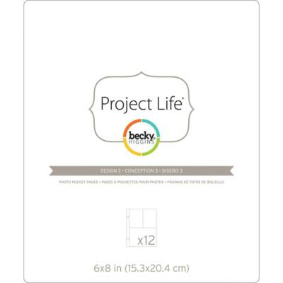 Becky Higgins - Project Life - 6 x 8 Pocket Pages - Design 3