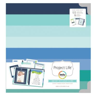 Becky Higgins - Project Life - 6 x 8 Album Baby Boy Kit