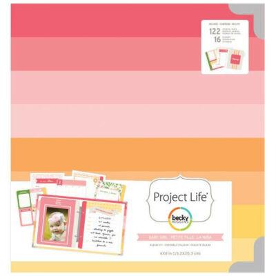Becky Higgins - Project Life - 6 x 8 Album Baby Girl Kit