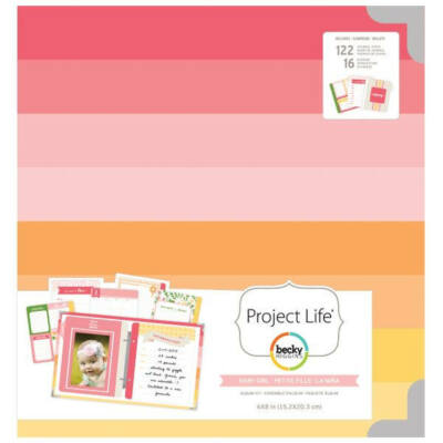 Becky Higgins - Project Life - 6 x 8 Album Baby Girl Kit