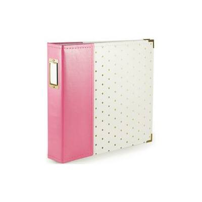 We R Memory Keepers - 12 x 12 Album Strawberry With Gold Dots