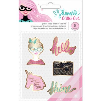 Shimelle Glitter Girl Enamel Charms