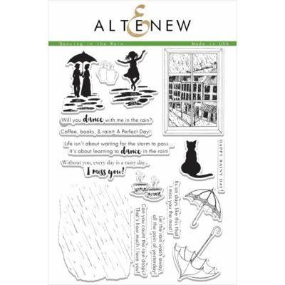 Altenew Dancing In The Rain Stamp Set
