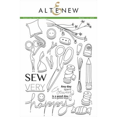 Altenew Sew Very Happy Stamp Set