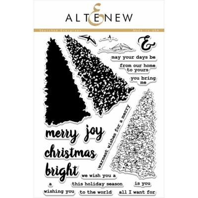 Altenew Sketched Evergreen Stamp Set