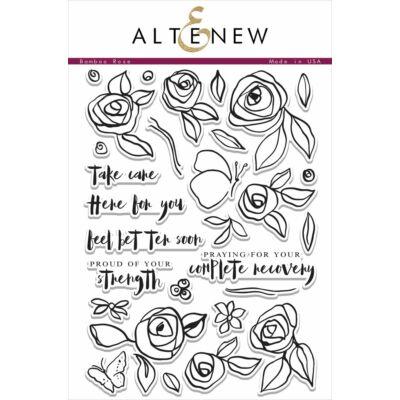 Altenew Bamboo Rose Stamp Set