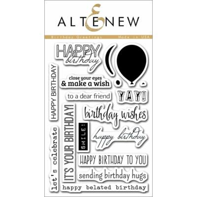 Altenew Birthday Greetings Stamp Set