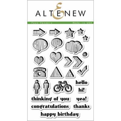 Altenew Faux Veneer Stamp Set