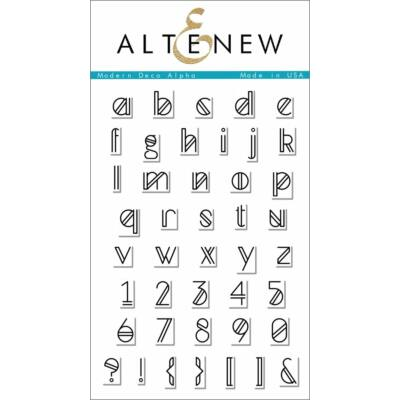 Altenew Modern Deco Alpha Stamp Set