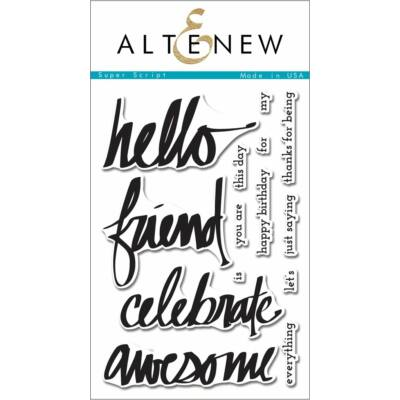 Altenew Super Script Stamp Set