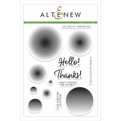 Altenew Halftone Circles Stamp Set