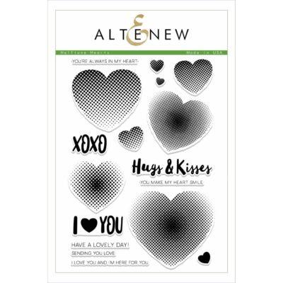 Altenew Halftone Hearts bélyegző