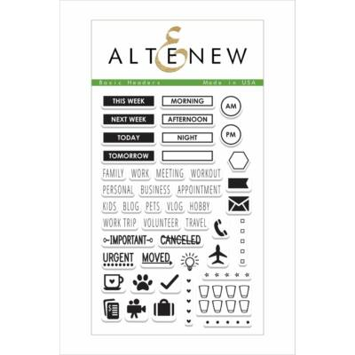 Altenew Basic Headers Stamp Set