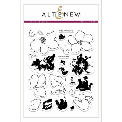 Altenew Hibiscus Bouquet Stamp Set