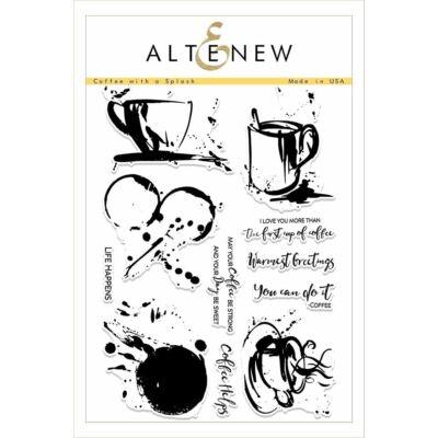 Altenew Coffee with a Splash Stamp Set
