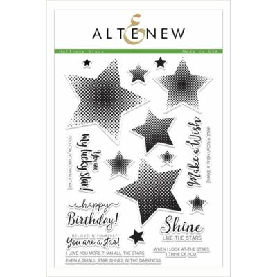 Altenew Halftone Stars Stamp Set