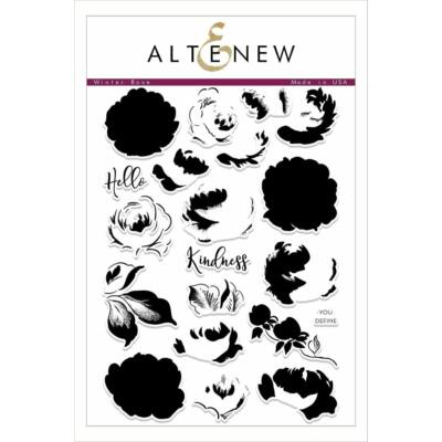 Altenew Winter Rose Stamp Set