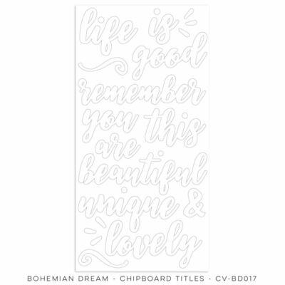 Cocoa Vanilla Studio - Bohemian Dream Chipboard Titles