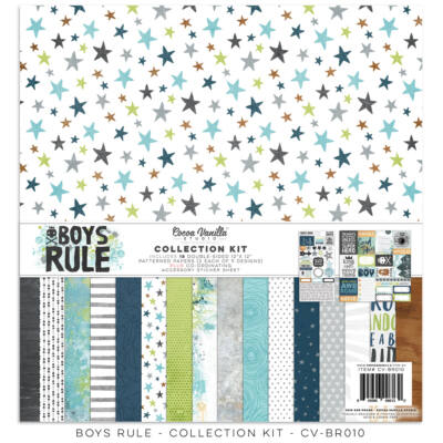 Cocoa Vanilla Studio - Boys Rule 12x12 Collection Kit