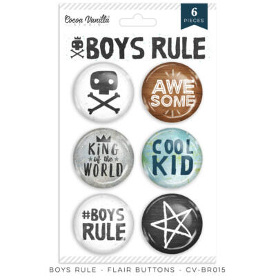 Cocoa Vanilla Studio - Boys Rule Flair Buttons