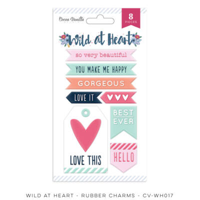 Cocoa Vanilla Studio - Wild At Heart Rubber Charms