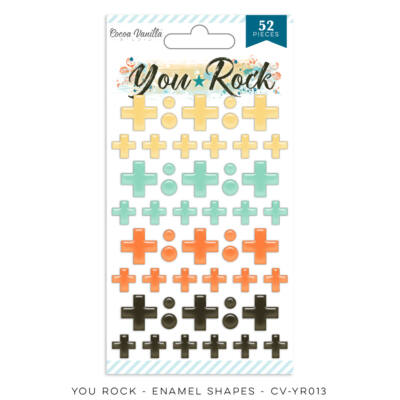 Cocoa Vanilla Studio - You Rock Enamel Shapes