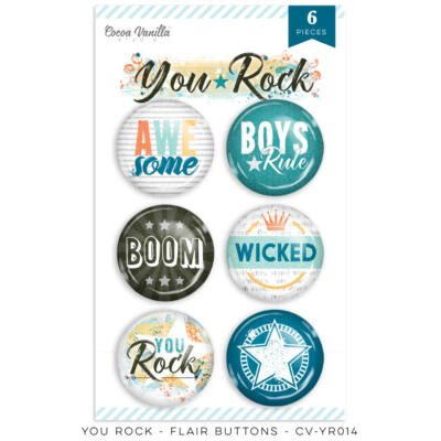 Cocoa Vanilla Studio - You Rock Flair Buttons