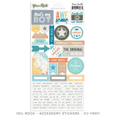 Cocoa Vanilla Studio - You Rock 6x12 Accessory Stickers