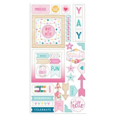 Cocoa Vanilla Studio - Make A Wish Chipboard Accent Stickers