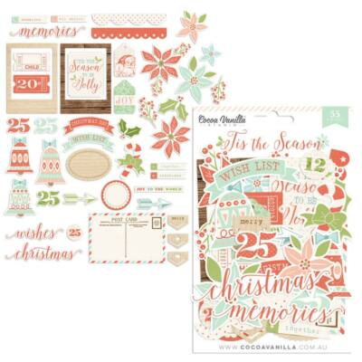 Cocoa Vanilla Studio - Tis The Season Die Cut Ephemera