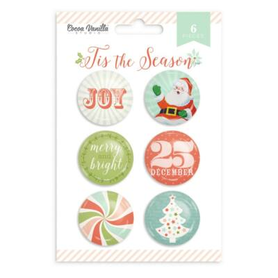 Cocoa Vanilla Studio - Tis The Season Flair Buttons