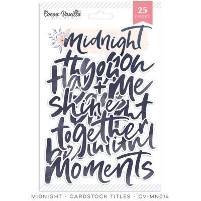 Cocoa Vanilla Studio - Midnight Die Cut Titles