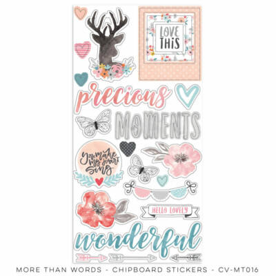 Cocoa Vanilla Studio - More Than Words Chipboard Stickers