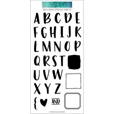 Concord & 9th 4x8 Clear Stamps - Bold & Brushy Uppercase