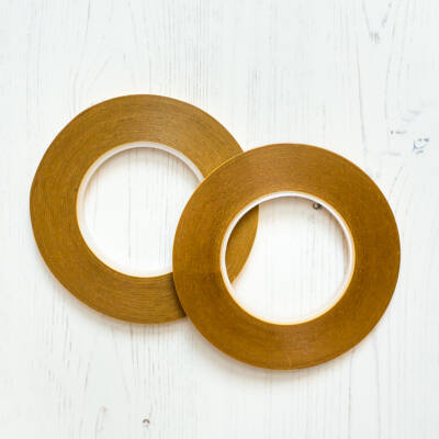 Double-sided tape with paper backing 6mmx50m