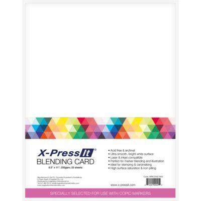 """X-Press Blending Card 8.5""""X11"""" 25/Pkg"""